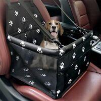Collapsible Pet Dog Booster Car Seat Cat Dog Car Carrier Zipper Storage Pocket