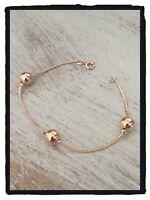 Bracelet maille tressée alternance boules En Plaqué or 18 Carats Bijoux Femme