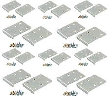 x20 KITCHEN HINGE REPAIR KIT Plate Cupboard Door Cabinet Pair + Screws - Silver