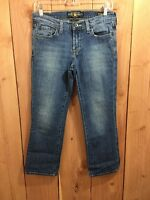 Lucky BrandWomen's 4 / 27 Sweet 'N Low Blue Jeans Denim Zipper Fly Capri - Short