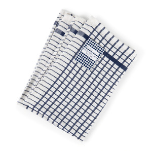Pack of 3, Luxury Terry Tea Towels Set Kitchen Dish Cloths Cleaning Drying