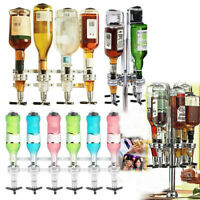 WALL MOUNTED & ROTARY STAND DRINK OPTIC DISPENSER PARTY BAR BUTLER 4 to 6 BOTTLE