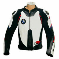 BMW MOTORRAD MOTORBIKE MOTORCYCLE COWHIDE LEATHER ARMOURED RACING BIKER JACKET