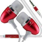 Paquete Doble - Rojo Manos Libres Auriculares con micrófono para Nokia Lumia 735
