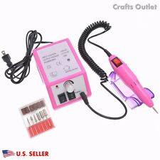 Professional Electric Acrylic nail drill machine W/ Sand Machine Kit Band set US