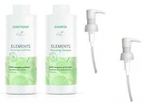 Wella Elements Shampoo 1000ml and Conditioner 1000ml + Pumps FREE P&P