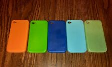 (Set of 5) iPhone 4 Soft Rubber Gel Grip Cases Covers Skins Orange Blue Green