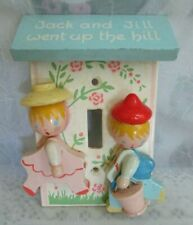 Vintage Originals by Irmi Jack and Jill Went Up / Hill Wood Light Switch Plate