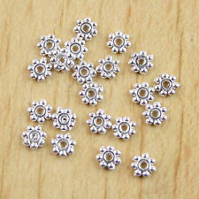 400pcs 4mm silver-tone Daisy Spacers Beads h0230