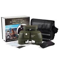 10x50 BAK4 HD Optical coating FMC Night Vision Rangefinder Compass Binoculars