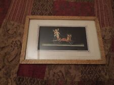 Gallo Giovanni Small Pompei Inspired Gouache Painting Signed and Framed