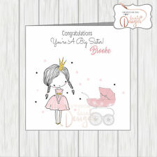 Personalised Congratulations On Becoming A New Big Sister Princess Glitter Crown