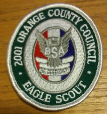 2001 Eagle Scout Recognition Patch Orange County Council Calif Eagle Badge Patch