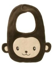 GYMBOREE MISCHIEVOUS MONKEY BROWN FURRY BIB NWT