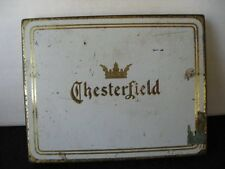 Vintage Chesterfield flat fifties Cigarette Tin