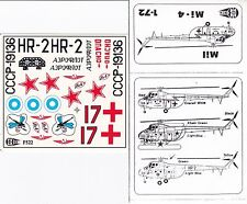 "1:72 Mil Mi-4/4M HOUND Helicopter ""C3D Decals"" USSR Air Force, Aeroflot, Finland"
