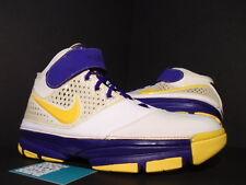 07 Nike Zoom KOBE II 2 LA LAKERS CARPE DIEM WHITE PURPLE YELLOW 316022-171 10.5