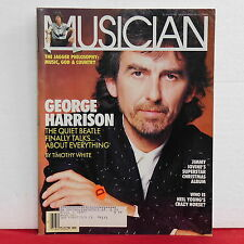 George Harrison Musician Magazine The Beatles Mick Jagger Young November 1987!!
