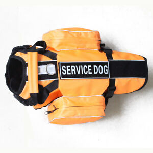 Service Dog Harness vest with Removable Saddle Bags Pockets & 2 Patches