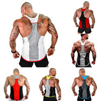 Gym Men Muscle Sleeveless Tank Top Tee Shirt Bodybuilding Sport Fitness Vest ZS