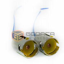 2x Connectors Socket Bulb Brake Light Harness PigTail 1156 S25 1141 Lo/Lo Slot