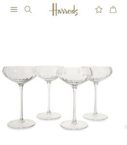 Soho Home Pembroke Champagne Coupe Cut Glasses X4 BNIB 200ml Each