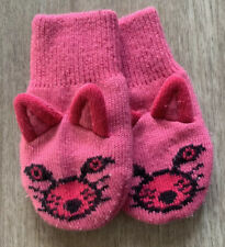Columbia•Girls Infant O/S Pink•Knitted Insulated Kitty Cat Mittens