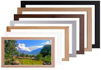 Wood Picture / Poster Photo Frame Black Silver Oak White Multiple Sizes & Colour