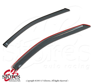 Light Tinted Out-Channel Vent Visor Deflector 2pcs For 1995-2007 Chevrolet S-10