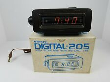 Vintage Sankyo Digital Dayglo Clock Model No. 205 Flip Alarm Clock Rare NOS
