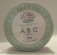 Little Classic Rubber Stamp Mini's Alphabet Set, Dots, Mint in Package