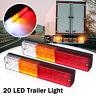 Paire Feux Arriere Freinage Clignotant LED Éclairage Camion Remorque Caravane