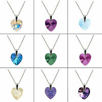 FASHIONS FOREVER® 925 Silver Heart Necklace Pendant made with SWAROVSKI® Crystal