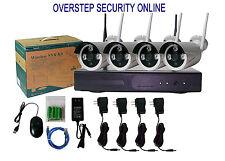 4CH Wireless WIFI NVR ONVIF Security 720P IR Outdoor IP Camera WIFI System Kit