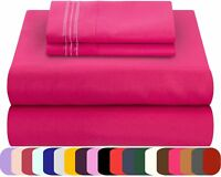Mezzati Bed Sheets Set Soft Comfortable Brushed Microfiber Bright Color Bedding
