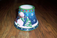 Yankee Candle Medium/Large Jar Topper Shade Christmas Snowman Collection