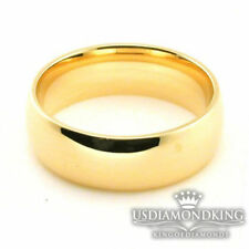 MEN'S WOMEN'S 6,7,8 MM 10K SOLID YELLOW GOLD PLAIN WEDDING BAND RING SIZE 5-13
