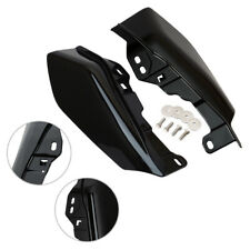 Black ABS Mid-Frame Air Deflector Heat Shield Fit For Harley Street Glide 17 up