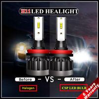 2x CREE CSP H8 H9 H11 LED Headlight Bulb Kit 1200W 250000LM Low Beam Xenon 6000K