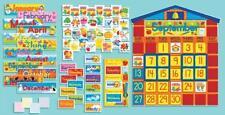Scholastic SC939405 All-In-One Schoolhouse Calendar Bulletin Board, New, Free Sh