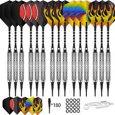 15PCS Soft tip darts 18g+100Tips+20Flights+15Aluminum shafts+O Rings-Cyeelife