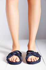 Urban Outfitters 'Nomadic State of Mind' EU37 Womens US7 Navy Rope SandalS NWT
