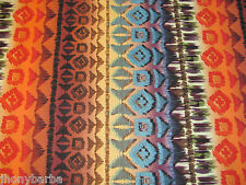 NAVAJO NATIVE EARTH SOUTHWEST BLANKET STRIPES on COTTON FABRIC Individual YARDS
