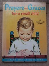 PRAYERS & GRACES FOR A SMALL CHILD BY MARY ALICE JONES  1978 HARDBACK BOOK