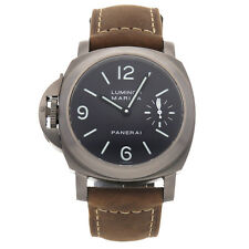 Panerai Luminor Marina Destro Manual 44mm Titanium Mens Strap Watch PAM 117