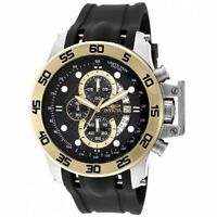 Invicta 19253 Gent's I-Force Chrono Black Dial Black Strap Watch