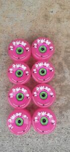 Atom Pulse Outdoor 8 Skate Wheels Pink 62mm 78a w/ Bionic 8mm ABEC 7 bearings