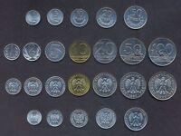 POLAND SET 1+5+10+20+50 Groszy +1+2+5+10+20+50+100 Zlotych 1949-1990 UNC LOT 12*