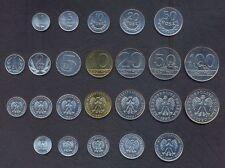 POLAND SET 1+5+10+20+50 Groszy +1+2+5+10+20+50+100 Zlotych 1949-1990 UNC LOT 12