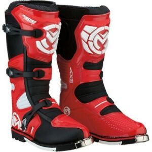 Moose - M1.3 Boots Adult Size 12 Red  MX Moto Duel sport Dirt Moto - 3410-1966